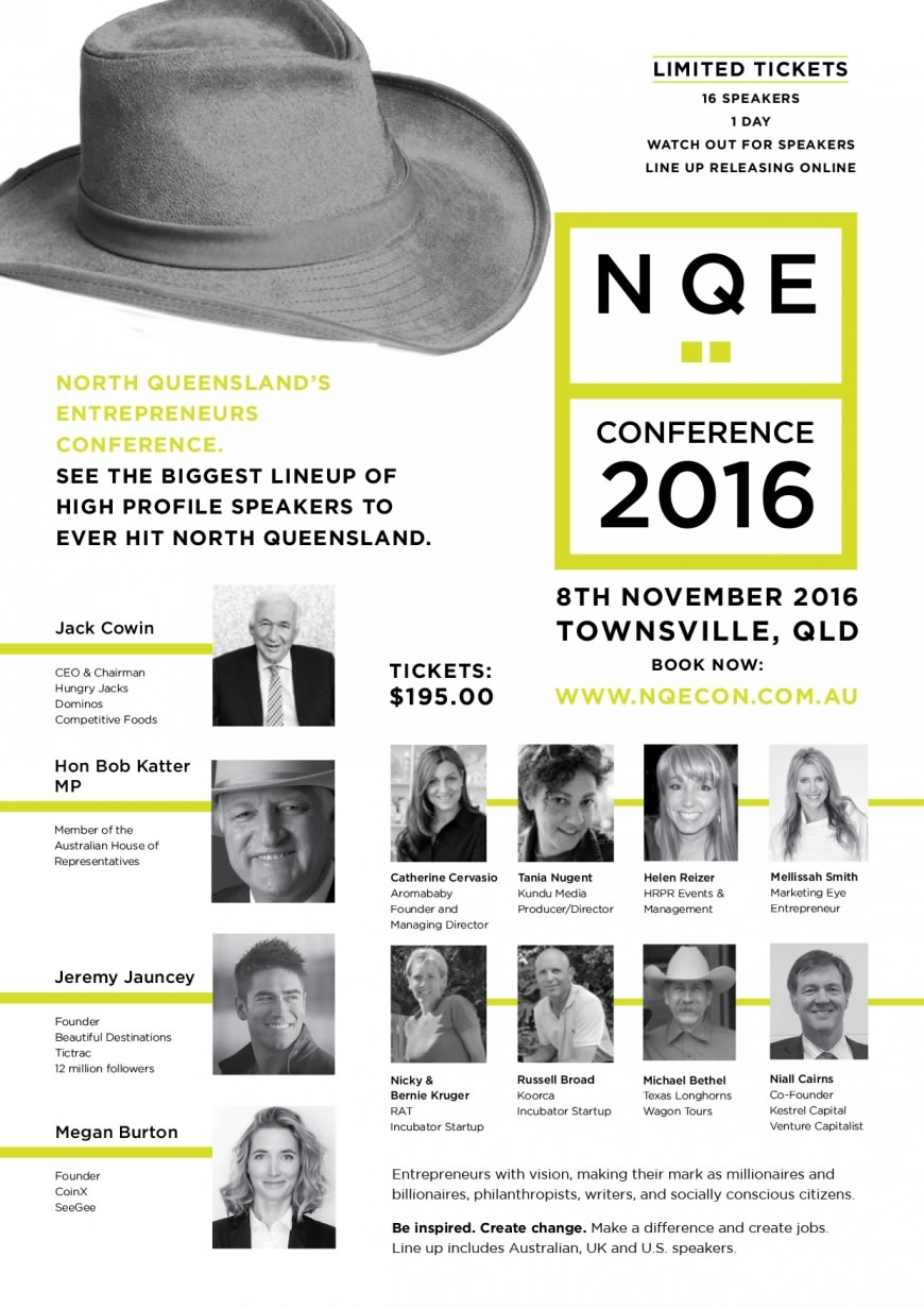Charters Towers startups to star at North Queensland Entrepreneurs Conference