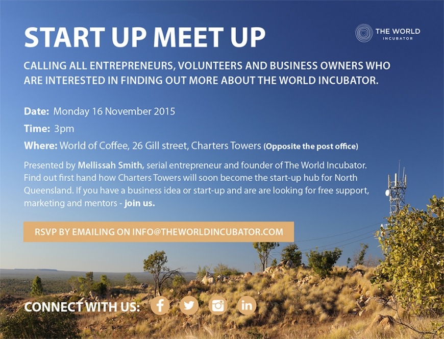 Start-up Meetup : Monday 16th November, 2015 at 3pm - Everyone welcome